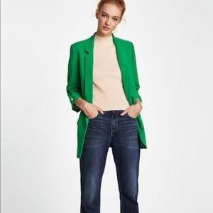 Zara Green Long Blazer